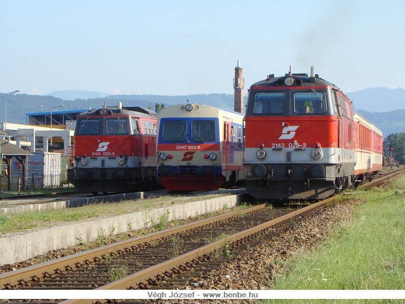 A 2413 029-3, a 2143 075-6 és az 5047 022-8 Spratzenben fotó