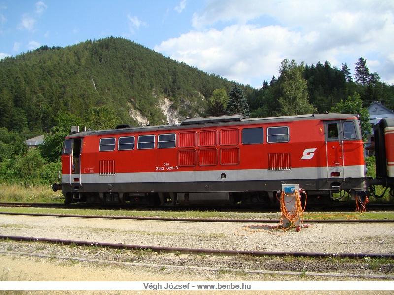 Az ÖBB 2143 029-3 St. Aegyd állomáson fotó
