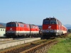 The BB 2143 029-3, 2143 075-6 and 2143 074-9 at Spratzen