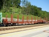 A Slovakian log transport car at Traisen