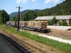 Loaded log cars at Hohenberg