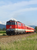 The ÖBB 2143 058-2 near St. Georgen am Steinfeld