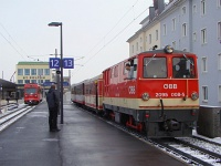 The BB 2095 008-5 at the St. Plten main station&#39;s narrow gauge part
