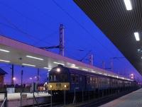 A BDt 320 hagyományos ingavonattal érkezett Kelenföldre