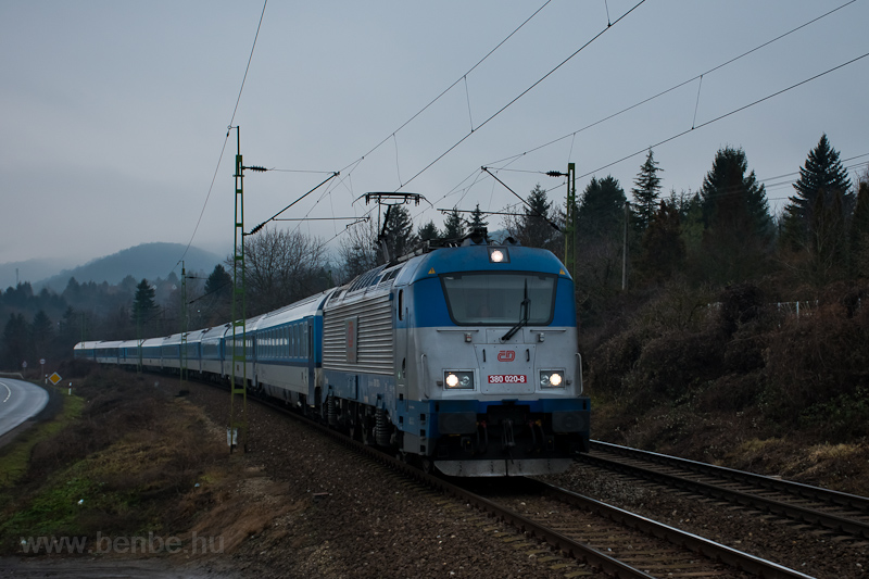 The ČD 380 020-8 seen  photo