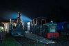 A Kemencei Erdei Múzeumvasút P5 dízel- és a Műszaki és Közlekedési Múzeum Triglav-gőzmozdonya Kemence állomáson