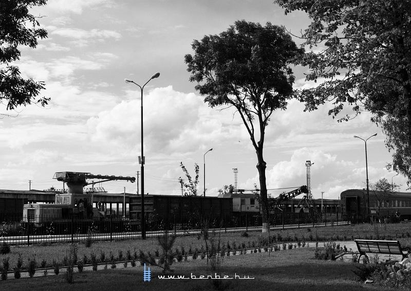 Ukrán daruszerelvény Vadul-Siret állomáson fotó