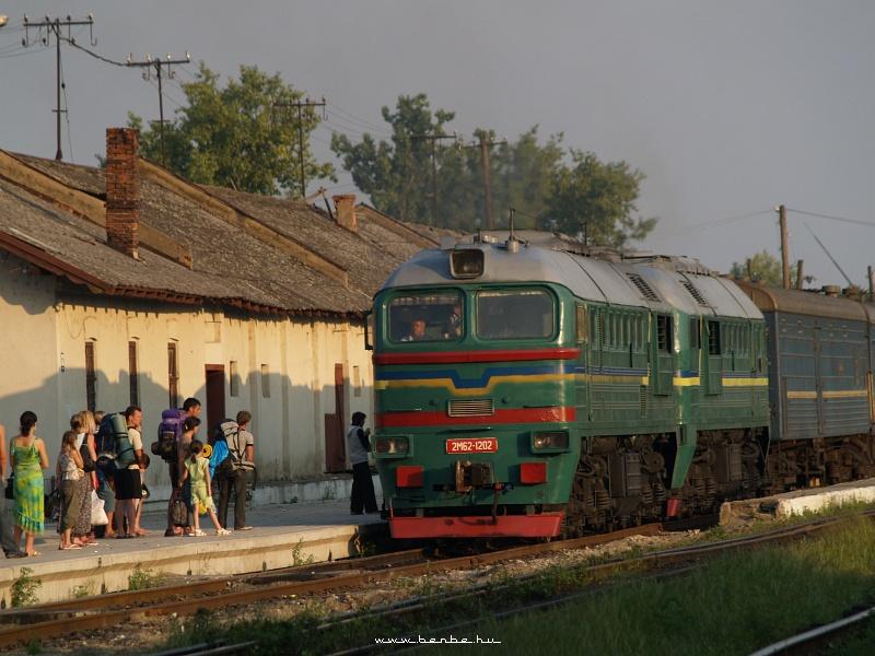 2M62 1202 érkezik a lembergi gyorssal Beregszászra fotó