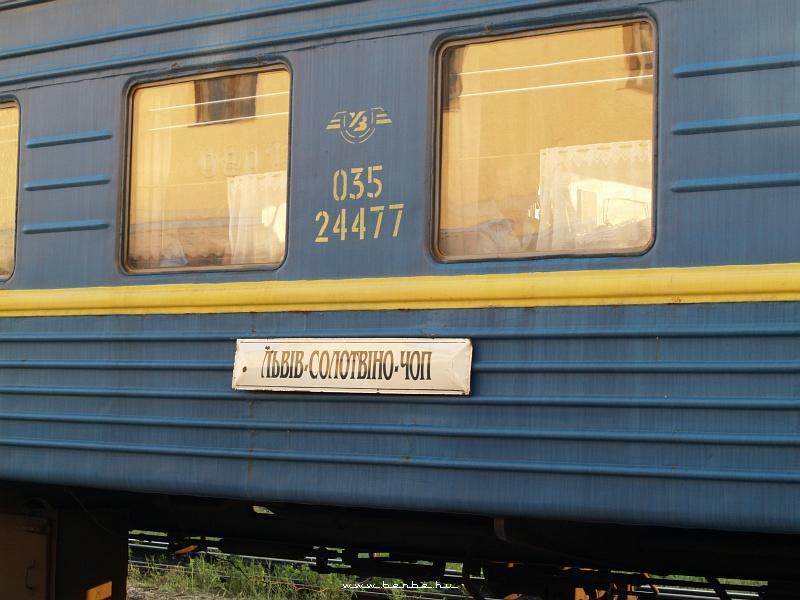 L'viv-Solotvino-Chop: kicsit lehetetlen irányt ír le a tábla fotó