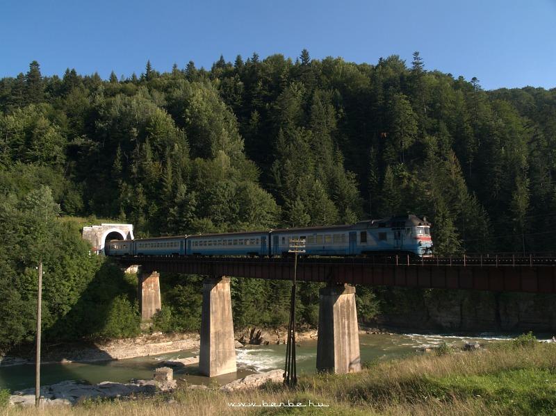 D1 607-3 Jaremcsa elõtt a Prut hídján fotó