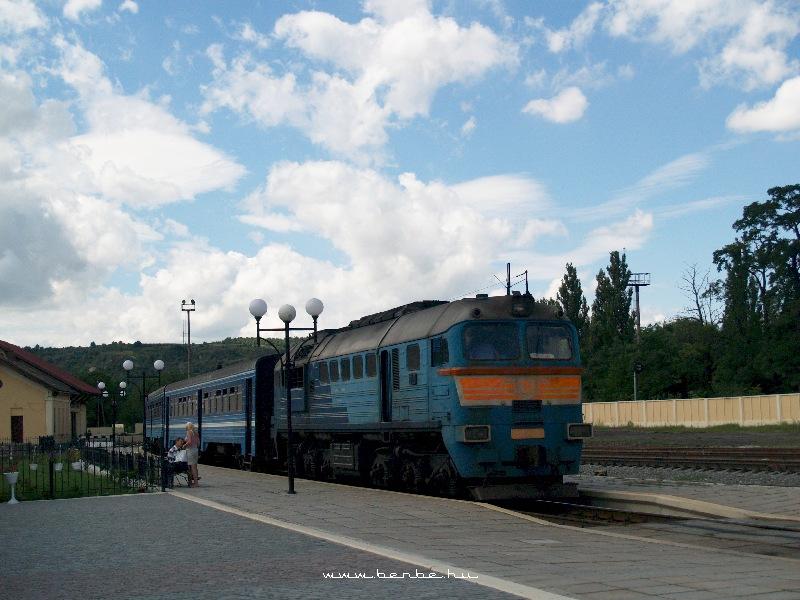 Zaliscsiki állomás DPL motorvonattal, élén 2M62-1114 fotó