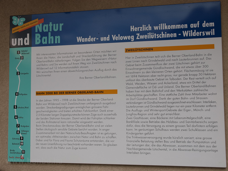 Information sign about the  photo