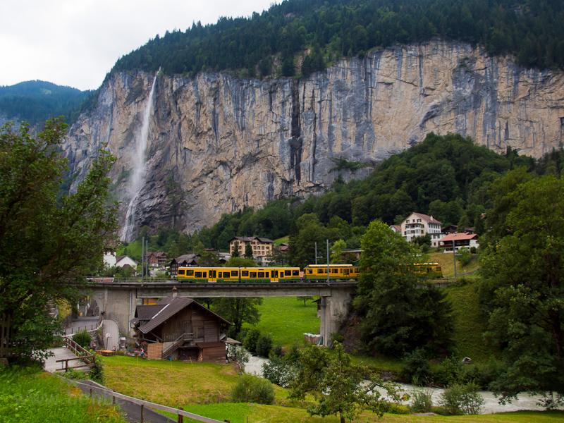 A Wengernalpbahn BDhe 4/8 133 Lauterbrunnen és Witimatte között fotó