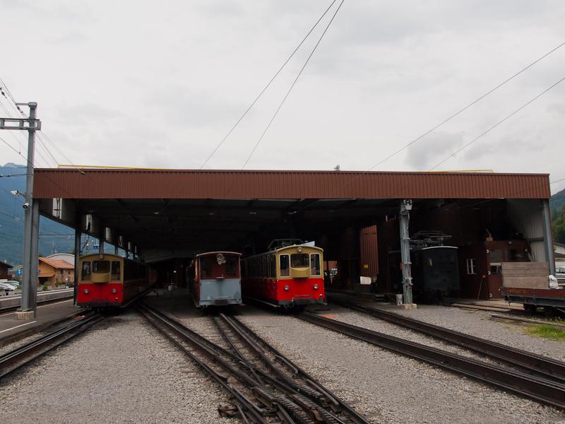 A Schynige Platte-Bahn kocsiszínje Wilderswilben fotó
