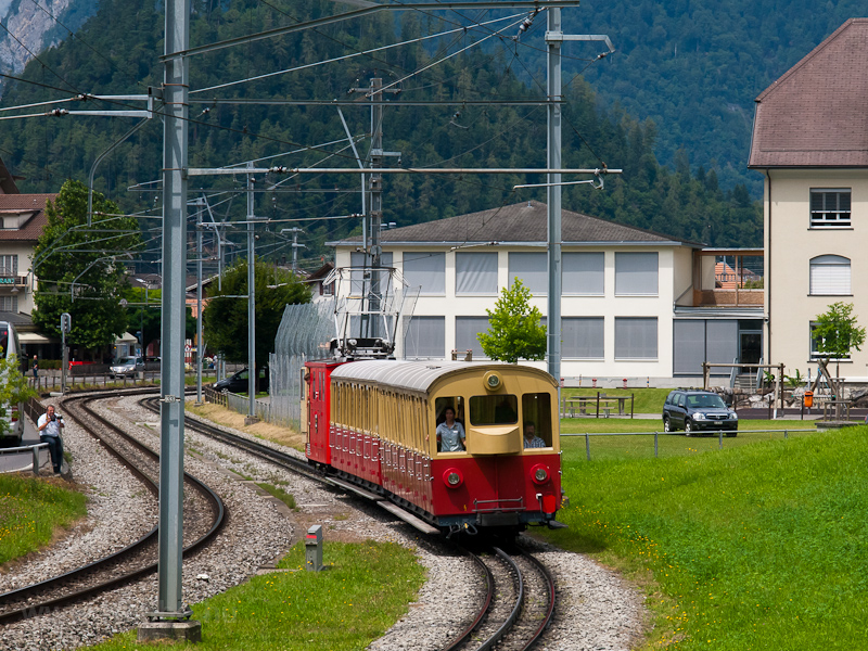 A Schynige Platte-Bahn He 2/2 13 Wilderswil és Rotenegg között fotó