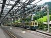 A Wengernalpbahn BDhe 4/4 116 Lauterbrunnen állomáson