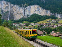 A Wengernalpbahn BDhe 4/8 131 Witimatte és Rohrfluh között
