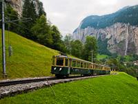 A Wengernalpbahn BDhe 4/4 116 Witimatte és Rohrfluh között