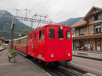 A Schynige Platte-Bahn He 2/2 13 Wilderswil állomáson