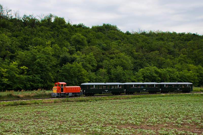 The Vál-völgyi Kisvasút Mk48 2016 seen between Puskás Akadémia and Ó-Felcsút photo