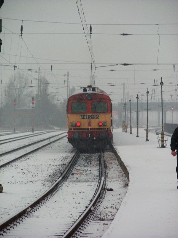 M41 2105 a hóban Hatvanban fotó