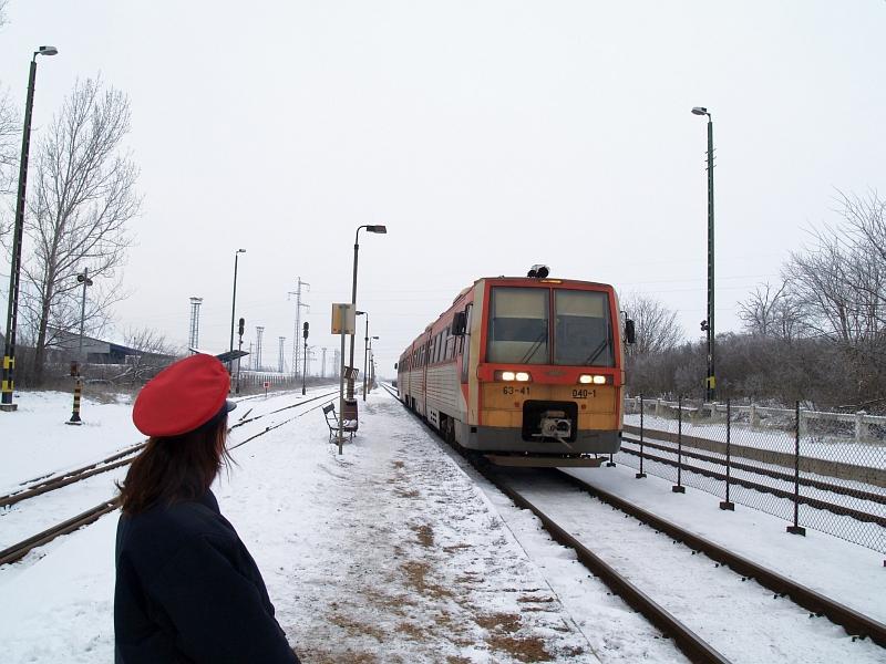 6341 040-1 Mátravidéki Erõmû állomáson a hóban fotó