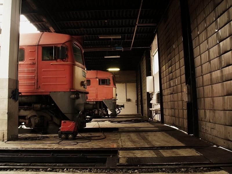 Szergejek a hatvani mozdonyszínben fotó