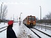 The 6341 040-1 at M�travid�ki Er�m� station in the snow