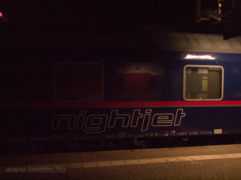 ÖBB Nightjet kocsi Nürnbergben fotó