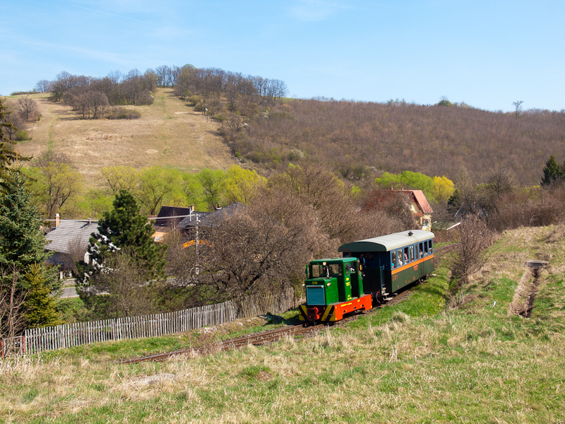 The Nagybörzsönyi Erdei Vasút C50 3739 seen between Hártókút and Szokolya-Mányoki photo