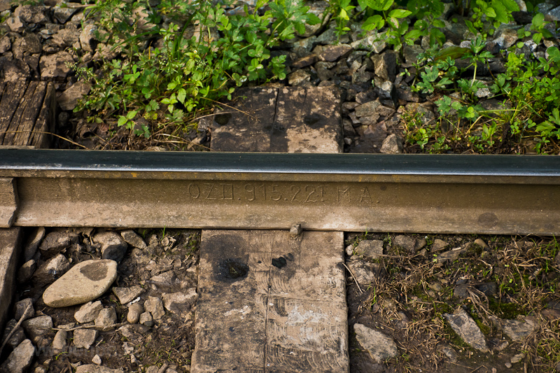 Hungarian, Ózd-made rail at photo