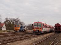 A Train Hungary 601 107 és a MÁV-START 416 032 Orosháza állomáson