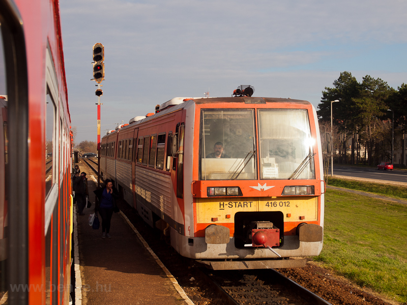The MÁV-START 416 012 seen at Hódmezővásárhelyi Népkert photo