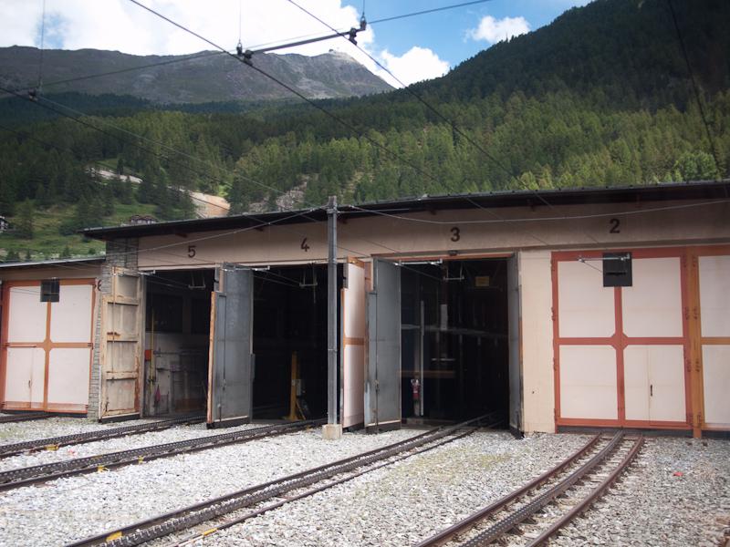 The Gornergratbahn depot at photo