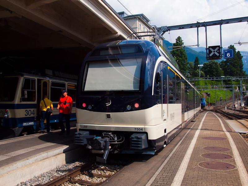 Az MVR (Montreux-Vevey-Rive fotó