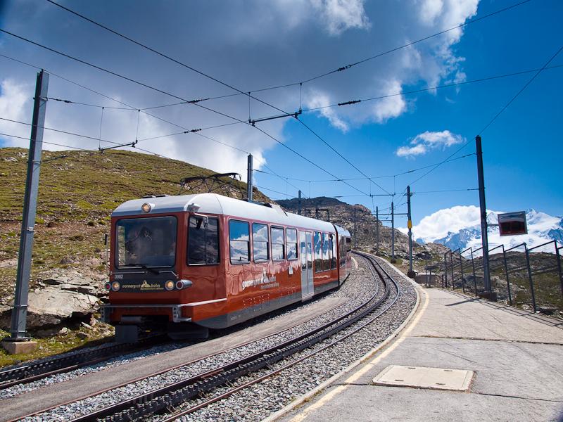 A Gornergratbahn (GGB) Bhe  fotó