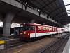 A Zentralbahn ABt 927-4 pályaszámú, régi, eredetileg a Luzern-Stans-Engelbergbahnnak szállított, alumínium szerkezetű, FFA EW I típusú vezérlőkocsija Luzern állomáson