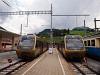 A MOB Be 4/4 5001 és Be 4/4 5002 Zweisimmen állomáson