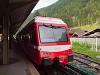 A TMR Beh 4/8 71 Vallorcine állomáson (határállomás Svájc és Franciaország között a Martigny-Chamonix-St. Gervais vasútvonalon)
