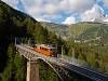 A Gornergratbahn Bhe 4/4 3062 Zermatt és Findelbach között