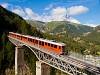 A Gornergratbahn Bhe 4/6 3082 Findelbach és Zermatt között