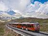 Egy ismeretlen Gornergratbahn (GGB) Bhe 4/6  Rotenboden és Gornergrat között, a háttérben a Matterhorn csúcsával