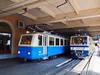 A MOB/Montreux - Glion - Rocher-de-Nay Bhe 2/4 204 és a Bhe 4/8 304 Montreux állomáson