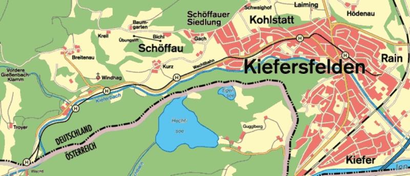 A Wachtlbahn térképe fotó