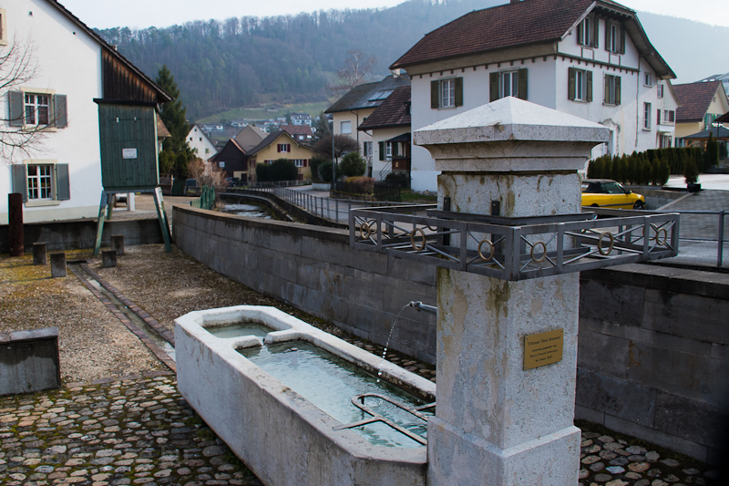 Rebuilt well at Oberdorf photo