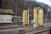 Kocsimosó és nosztalgiakocsi Waldenburg állomáson