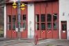 A Waldenburgerbahn BDe 4/4 14 és 11 Waldenburg fűtőházban