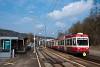 A Waldenburgerbahn BDe 4/4 15 Lampenberg-Ramlinsburg állomáson