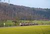 A Waldenburgerbahn BDe 4/4 15 Talhaus és Lampenberg-Ramlinsburg között
