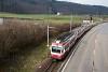 A Waldenburgerbahn BDe 4/4 17 Talhaus és Lampenberg-Ramlinsburg között